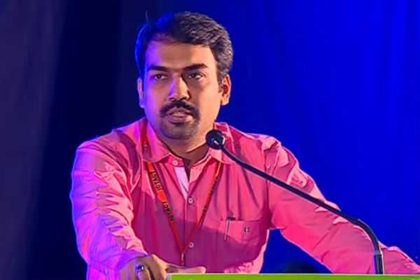 மதுரை: சுதேசி பேரணியில் ரங்கராஜ் பாண்டே..!
