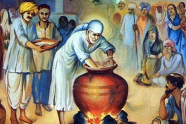 சாய்பாபா உணவைச் செலவழிக்கும் முறை