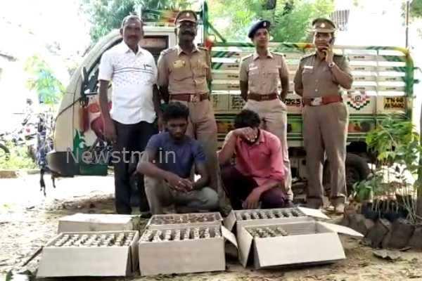 கும்பகோணம்: வெளிமாநில மதுபாட்டில்கள் கடத்தல்-2 பேர் கைது!