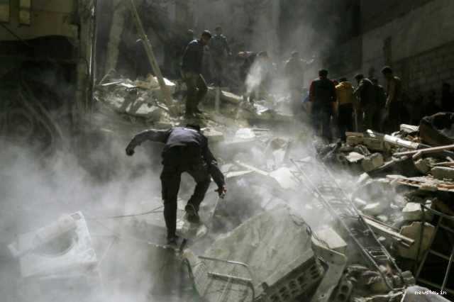 வரலாறு காணாத தாக்குதல்; சிரியாவில் 100 பேர் பலி