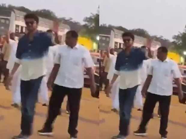 விஜய் ரசிகர்கள் மீது போலீசார் மீண்டும் தடியடி! நெய்வேலியில் குவிந்த ரசிகர்கள்!