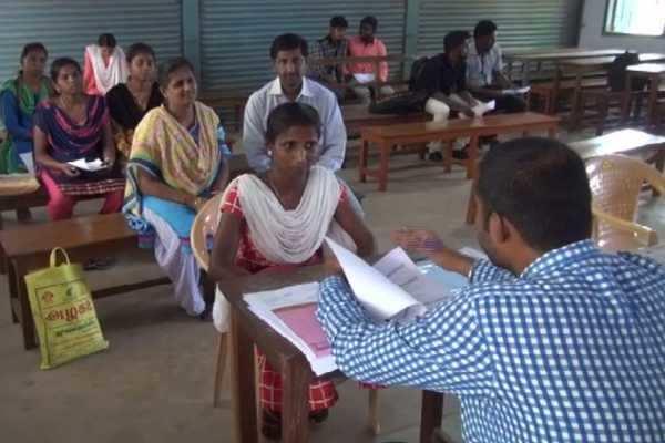 3 மாவட்ட இளைஞர்களுக்காக நடத்தப்பட்ட இலவச வேலைவாய்ப்பு முகாம்