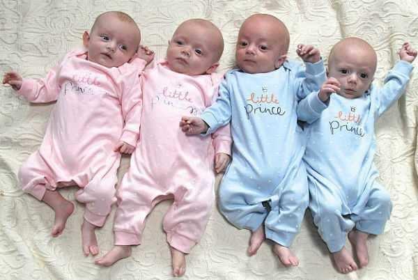 ஒரே பிரசவத்தில் பிறந்த 4 குழந்தைகள்! மகிழ்ச்சியில் பெற்றோர்!