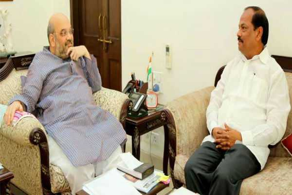 ஜார்க்கண்ட் மாநிலசட்டப்பேரவை தேர்தல் - முதலமைச்சர் ரகுபர்தாஸ், அமித் ஷா சந்திப்பு!!!
