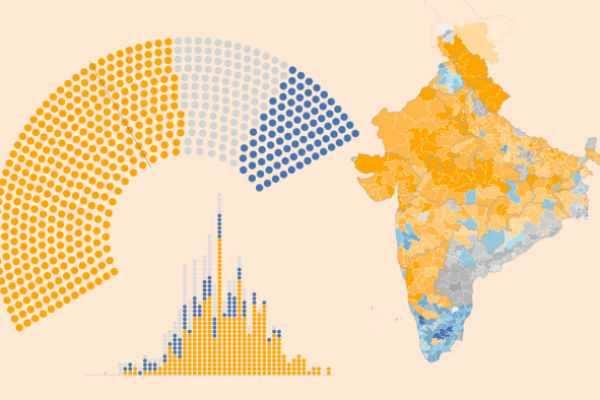 தேசத்தை பிளந்த தேர்தல் முடிவு !