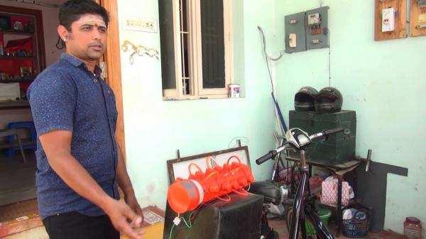இரண்டு ரூபாயில் 420 கி.மீ இயங்கும் பைக்: இளைஞரின் புதிய கண்டுபிடிப்பு