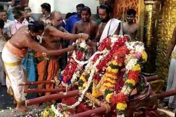கும்பகோணம் சாரபரமேஸ்வரர் திருக்கோவிலில் 70 ஆண்டுகளுக்குப் பிறகு நடைபெற்ற திருக்கல்யாணம்