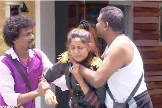 #BiggBoss Day 46: கழுத்தை நெறித்த பொன்னம்பலம்; கதறி அழுத ஐஸ்வர்யா!