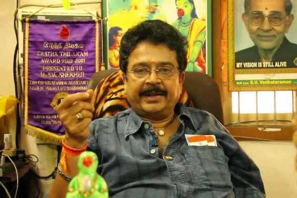 போலீஸ் பாதுகாப்புடன் நீதிமன்றத்தில் ஆஜரானார் எஸ்.வி.சேகர்!