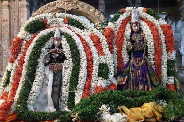 திருச்சி திருவானைக்காவல் ஜம்புகேஸ்வரர் ஆலயத்தில் வைகாசி வசந்த உற்சவம்