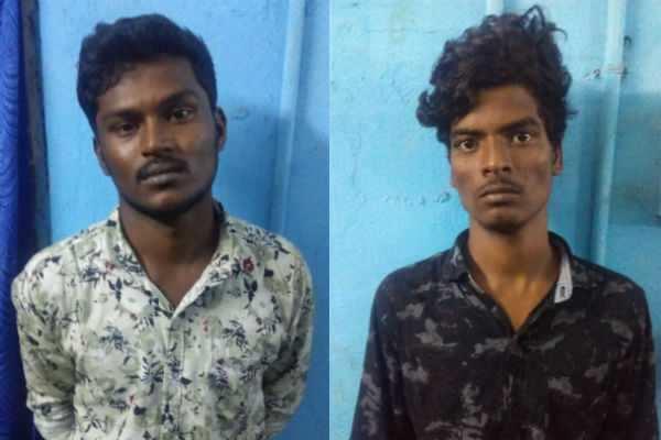 சென்னை: துணிக்கடையில் கத்தியைக் காட்டி மிரட்டிய 2 பேர் கைது...!