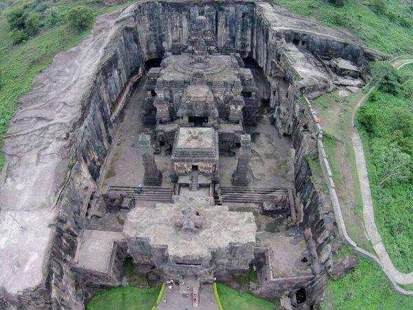 உலகம் வியந்த கோவில்ஒரே கல்லில் செதுக்கப்பட்ட உலகின் மிகப்பெரிய கோயில்...?