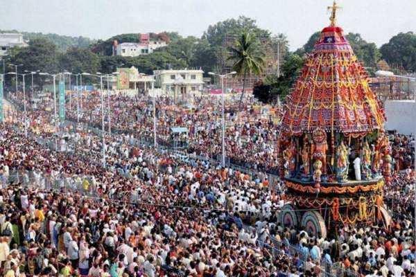 திருப்பதியில் மகா ரத தேரோட்டம்: பல்லாயிரக்கணக்கான பக்தர்கள் பங்கேற்றனர்