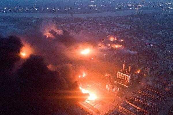 சீன ரசாயன தொழிற்சாலை வெடிவிபத்து; 78 பேர் பலி