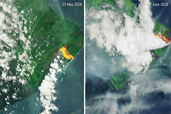 ஹவாய் எரிமலை வெடிப்பால் புதிய நிலப்பரப்பு: உரிமை கோரியது அமெரிக்கா