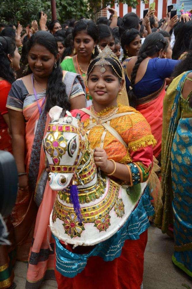 சென்னை பெண்கள் கல்லூரியில் பொங்கல் விழா!