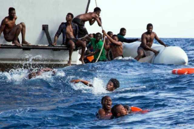 லிபியாவில் அகதிகள் படகு கவிழ்ந்தது: 90 பேர் பலி