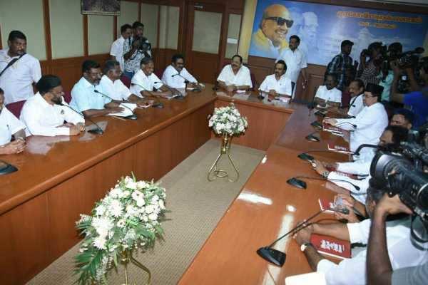காஷ்மீர் விவகாரம்: திமுக தலைமையிலான அனைத்துக்கட்சி கூட்டத்தில் தீர்மானம்!