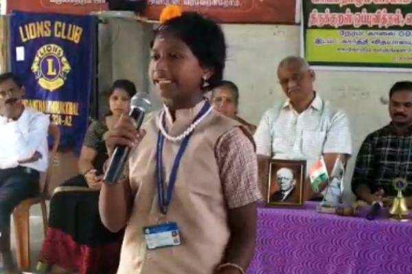 கும்பகோணத்தில் பள்ளி மாணவர்களுக்கனா பேச்சுப் போட்டி நடைபெற்றது